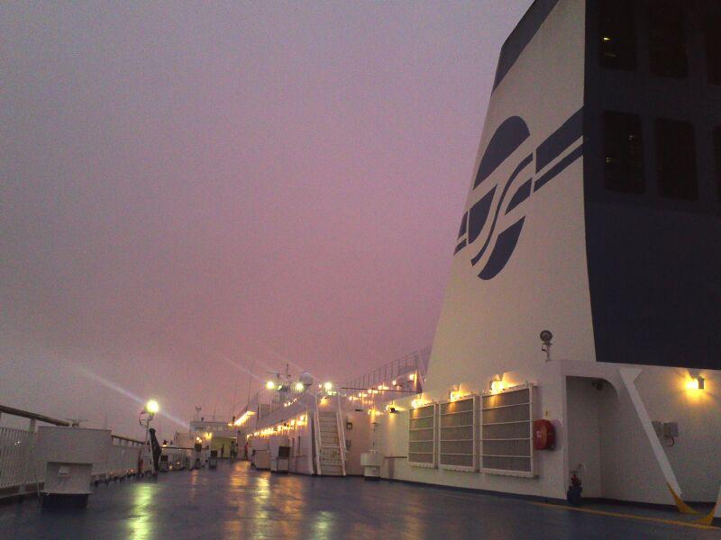 仙台港から